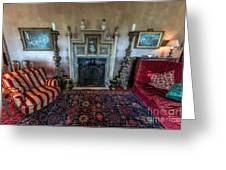 Mansion Sitting Room Greeting Card by Adrian Evans