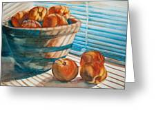 Many Blind Peaches Greeting Card by Jani Freimann