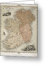 Map Of Ireland Greeting Card by C Montague