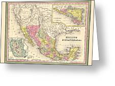 Map Of Mexico Greeting Card by Gary Grayson