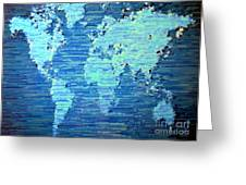 Map Of The World Greeting Card by Susan Waitkuweit