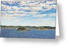 Marblehead View Greeting Card by Elaine Farmer