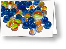 Marbles Greeting Card by Dale Jackson