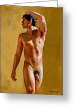 Marcelino Nude Greeting Card by Douglas Simonson