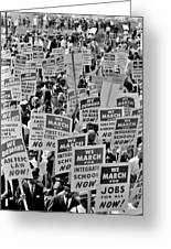 March On Washington Greeting Card by Benjamin Yeager