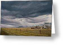 March Sky-montana Greeting Card by Paul Krapf