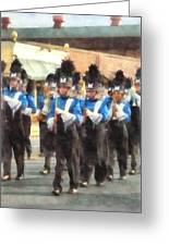 Marching Band Greeting Card by Susan Savad