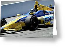 Marco Andretti Pit Lane Greeting Card by Bryan Maransky