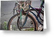 Mardi Gras Bicycle Greeting Card by Brenda Bryant