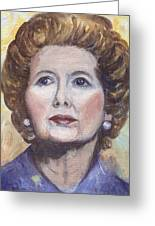 Margaret Thatcher Two Greeting Card by Linda Mears