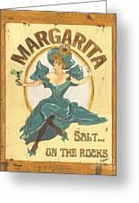 Margarita Salt On The Rocks Greeting Card by Debbie DeWitt