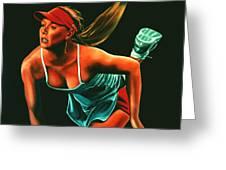 Maria Sharapova  Greeting Card by Paul Meijering