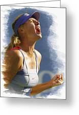 Maria Sharapova - Us Open 2011 Greeting Card by Don Kuing
