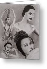 Maria Tallchief Greeting Card by Amber Stanford