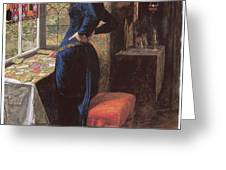 Mariana Greeting Card by John Everett Millais