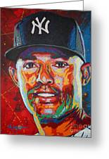 Mariano Rivera Greeting Card by Maria Arango