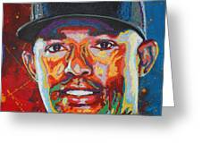 Mariano Rivera Greeting Card by Maria Arango