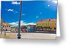 Marija Bistrica Square Colorful Panorama Greeting Card by Brch Photography