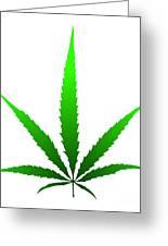 Marijuana Leaf Greeting Card by Michal Boubin