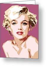 Marilyn Greeting Card by Douglas Simonson