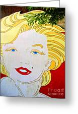 Marilyn Greeting Card by Ethna Gillespie