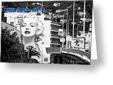 Marilyn In Cannes Greeting Card by Jennie Breeze