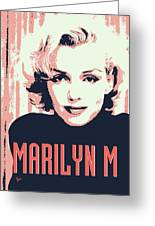 Marilyn M Greeting Card by Chungkong Art