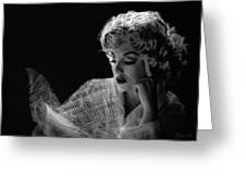 Marilyn Greeting Card by Marina Likholat