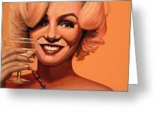 Marilyn Monroe 5 Greeting Card by Paul  Meijering