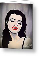 Marilyn Monroe Aka Norma Jean Artistic Impression Greeting Card by Saundra Myles