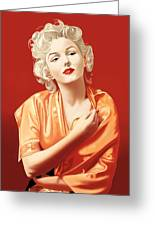 Marilyn Monroe Greeting Card by Andrew Harrison