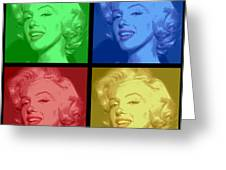 Marilyn Monroe Colored Frame Pop Art Greeting Card by Daniel Hagerman