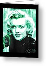 Marilyn Monroe - Green Greeting Card by Absinthe Art By Michelle LeAnn Scott