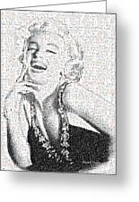 Marilyn Monroe In Mosaic Greeting Card by Angela A Stanton
