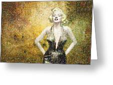 Marilyn Monroe In Points Greeting Card by Angela A Stanton