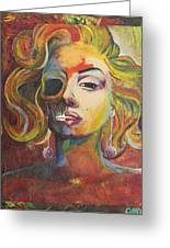 Marilyn Monroe Greeting Card by Mike Caron