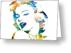 Marilyn Monroe Greeting Card by Mike Maher
