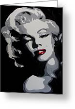 Marilyn Monroe Red Lips Greeting Card by Marisela Mungia