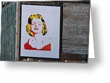 Marilyn Monroe Greeting Card by Rob Hans