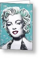 Marilyn Monroe Turquoise Greeting Card by Alicia Hayes