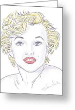 Marilyn Greeting Card by Steven White