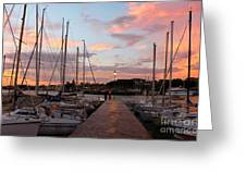 Marina In Desenzano Del Garda Sunrise Greeting Card by Kiril Stanchev