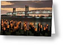 Marine Parkway Bridge Greeting Card by JC Findley