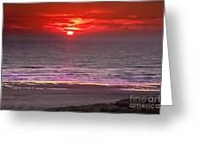 Marine Sunset Greeting Card by Robert Bales