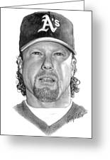 Mark Mcgwire Greeting Card by Harry West