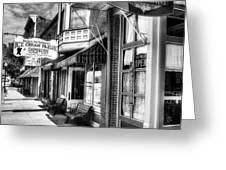 Mark Twain's Town BW Greeting Card by Mel Steinhauer
