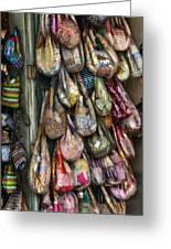 Market Bags 2 Greeting Card by Brenda Bryant