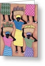 Market Day Greeting Card by Sarah Porter