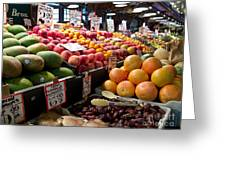 Market Fresh Greeting Card by Arlene Carmel