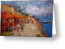 Market In Nafplion Greece Greeting Card by R W Goetting